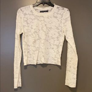 ABERCROMBIE AND FITCH crop long sleeve